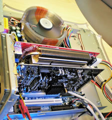 MAC - PC View inside showing the modifications